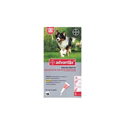 Advantix pipetas antiparasitarias perros 10-25 kg