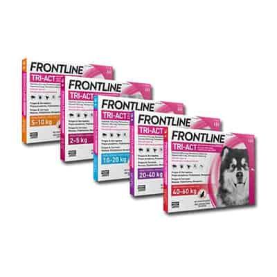Antiparasitario Frontline Tri-Act para perros en pipetas