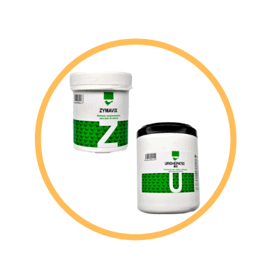 Probióticos para aves Pack Zymavix y Urohepatic