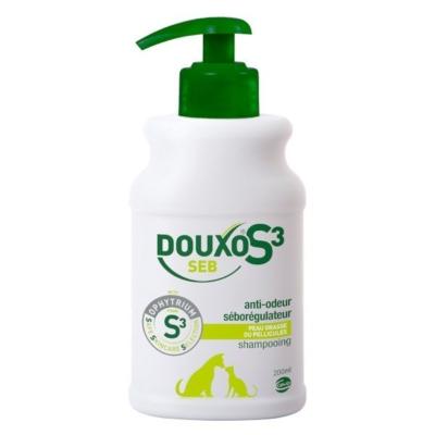 Douxo Seb champú antiseborreico y antimalolor para perros y gatos